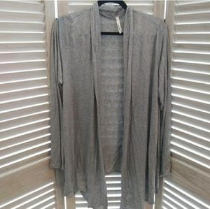 Gray cardigan shrug cover up XL-3X one size